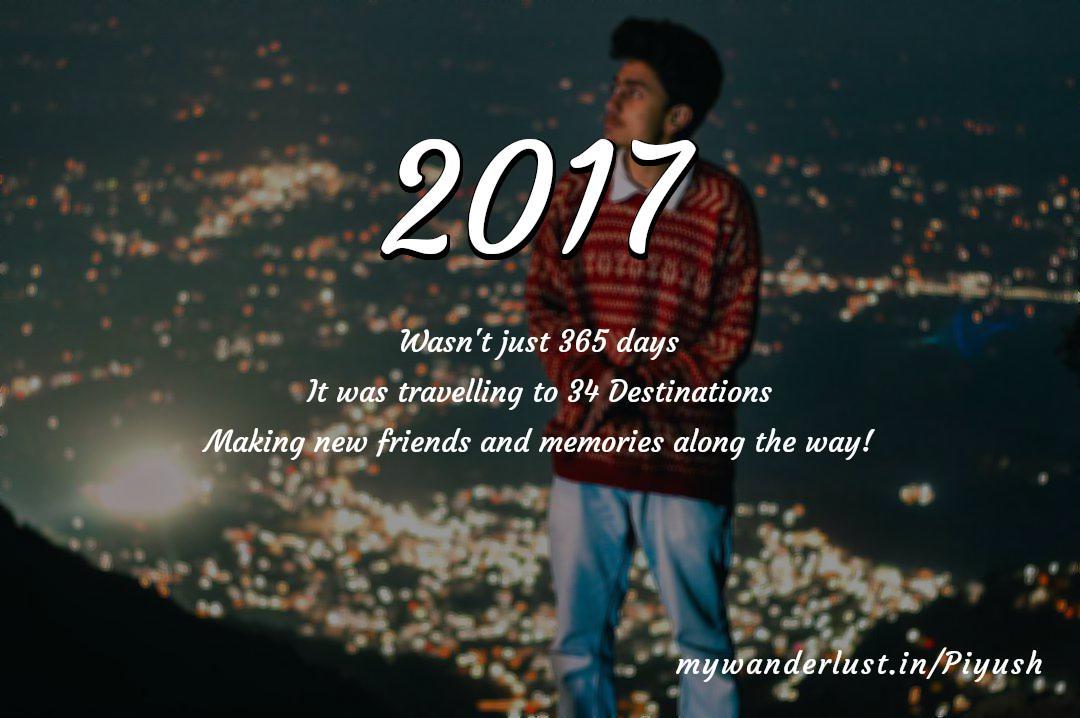 Piyush's year in travel