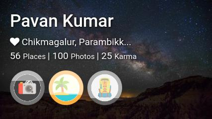 Pavan Kumar's traveler profile on MyWanderlust.in