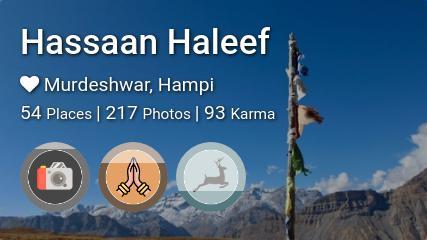 Hassaan Haleef's traveler profile on MyWanderlust.in