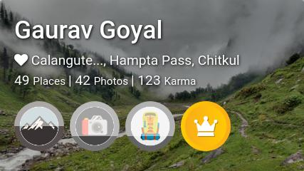 Gaurav Goyal's traveler profile on MyWanderlust.in