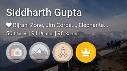 Siddharth Gupta's traveler profile on MyWanderlust.in