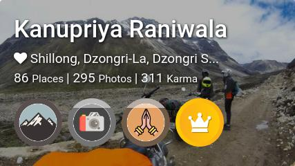 Kanupriya Raniwala's traveler profile on MyWanderlust.in