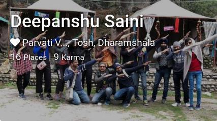 Deepanshu Saini's traveler profile on MyWanderlust.in