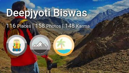 Deepjyoti Biswas's traveler profile on MyWanderlust.in
