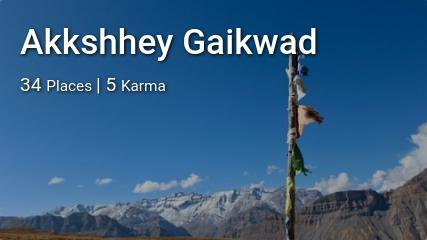 Akkshhey Gaikwad's traveler profile on MyWanderlust.in