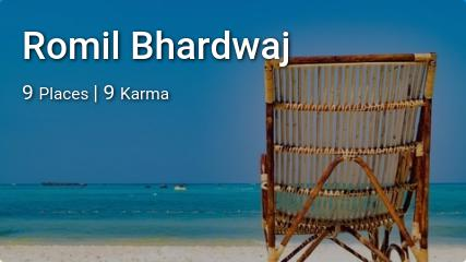 Romil Bhardwaj's traveler profile on MyWanderlust.in